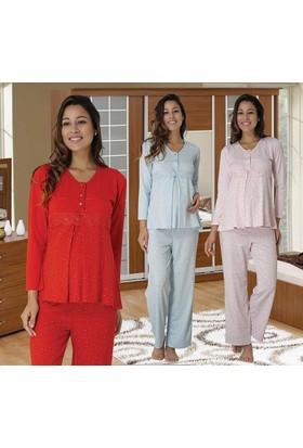 Meyra 2478 Hamile Lohusa Pijama Takımı