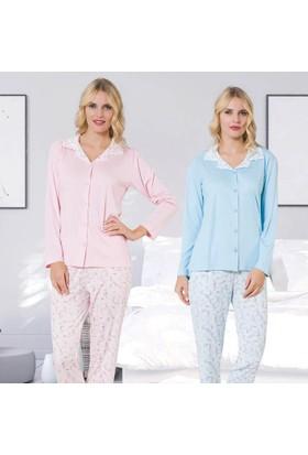 Meyra 2404 Önden Düğmeli Kadın Pijama Takımı