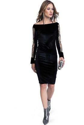 Quincey Kadife Elbise