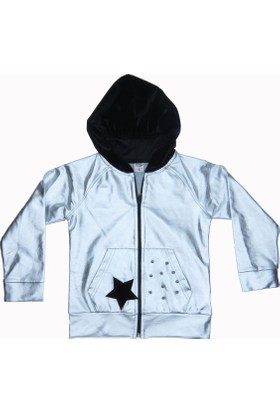 Dmb Kız Çocuk Kadife Kapşonlu Ceket