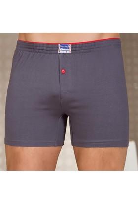 Berrak 1099 Erkek Renkli Boxer Short Füme