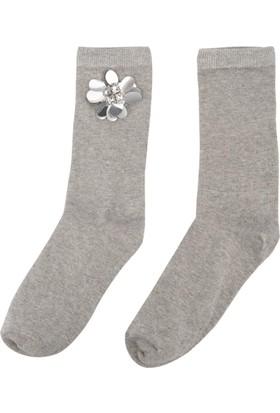 DeFacto Kadın Trend Çorap Gri