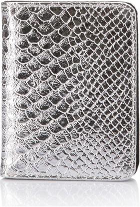 DeFacto Kadın Kare Dokulu Cüzdan Gümüş