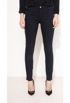 DeFacto Kadın Slim Fit Pantolon Lacivert