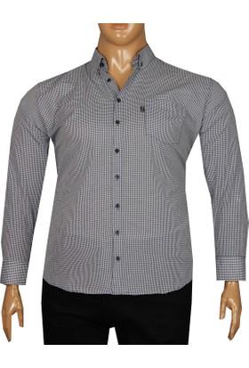 Fala Jeans Büyük Beden Uzun Kollu Gömlek 95350 Lacivert