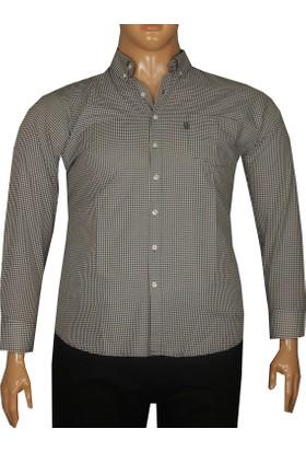 Fala Jeans Büyük Beden Uzun Kollu Gömlek 95350 Siyah