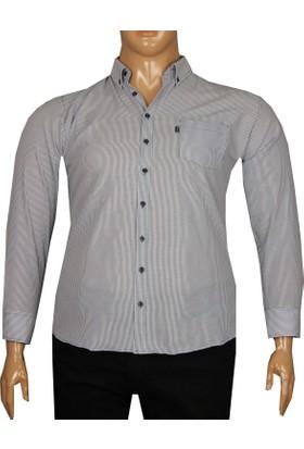 Fala Jeans Büyük Beden Uzun Kollu Gömlek 95353 Lacivert