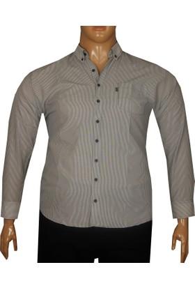 Fala Jeans Büyük Beden Uzun Kollu Gömlek 95353 Siyah