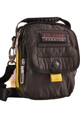 Zip Zone Çapraz Askılı Spor Erkek Çanta Siyah 30896