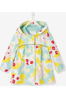 Vertbaudet Kız Çocuk Çiçekli Yağmurluk