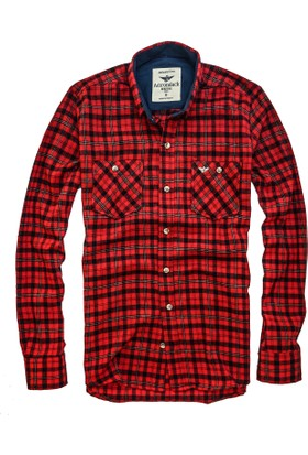 Adirondack Çift Cep Düğmeli Slim Fit Oduncu Gömlek