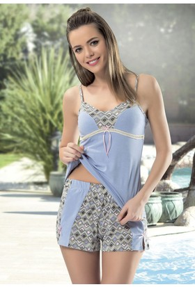 Angel'S Story 44220 Askılı Şortlu Kadın Pijama Takımı