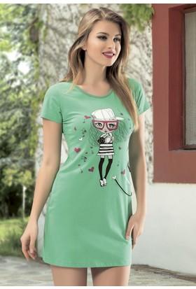 Angel'S Story 44545 Mini Rahat Ev Giyim Elbise