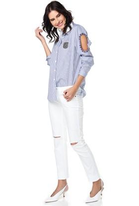 Lacarino Kadın Dar Kesim Kot Pantolon Beyaz