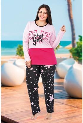 Lady Lingerie Büyük Beden Pijama Takım 135