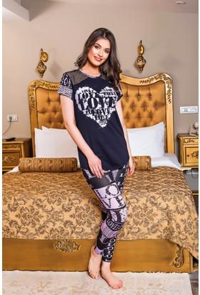 Lady Lingerie Kadın Tayt Pijama Takım 9281