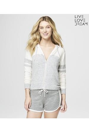 Aeropostale Ev Stili Fermuarlı Sweatshirt