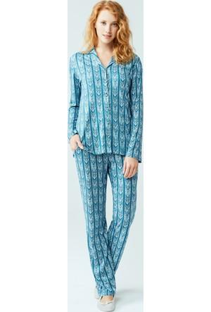 Dagi Kadın Pijama Takımı Petrol
