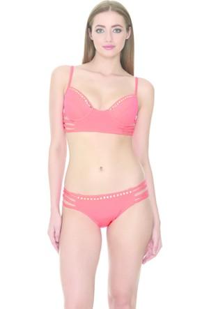 Dagi Kaplı Bikini Takımı Turuncu