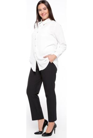 Kemerli Klasik Pantolon - Siyah - Nevra