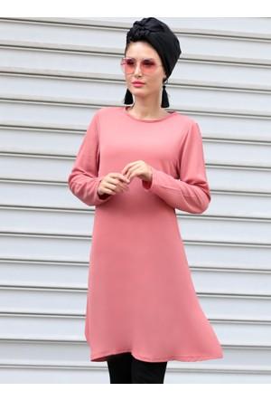 Basic Tunik - Pembe - Selma Sarı Design