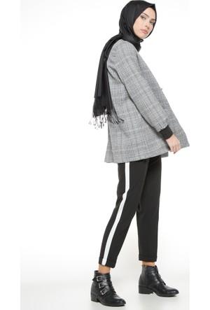Beli Lastikli Pantolon - Siyah - Nzl