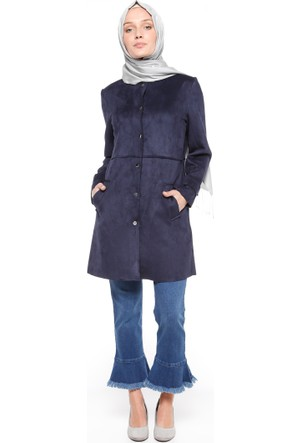 Paça Detaylı Kot Pantolon - Mavi - Nevra