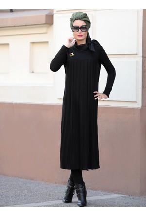 Selin Triko Tunik - Siyah - Selma Sarı Design
