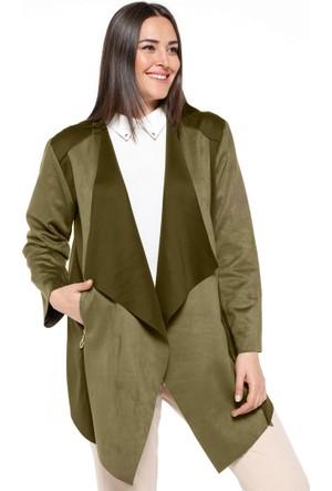 Süet Ceket - Yeşil - Nzl