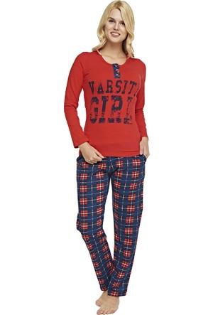 Pijama Takımı - Kırmızı Lacivert - Dünya Yıldızı