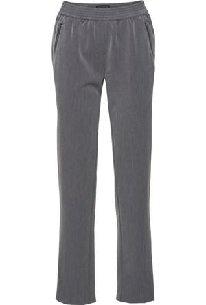 Bonprix Kadın Gri Kumaş Pantolon