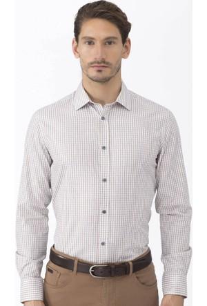 Hemington Kareli Kahverengi Business Gömlek