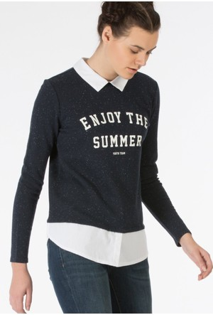 Colin's Lacivert Kadın Sweatshirt