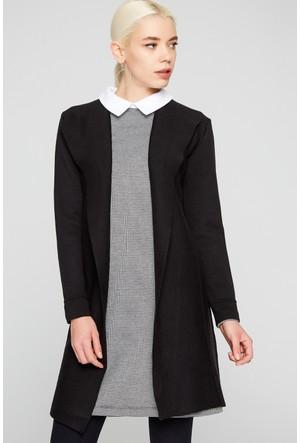 FullaModa 18KEMIREY0201 Kadın Kadın Ceket Siyah