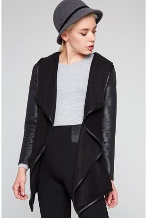 FullaModa 18KFRAWOMAN0002 Kadın Kadın Ceket Siyah