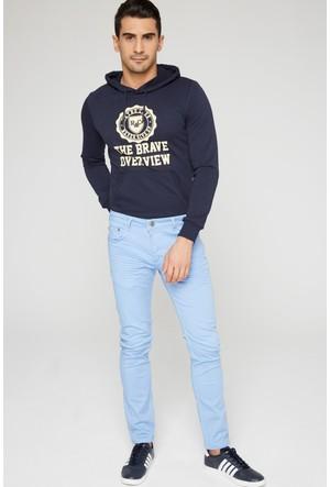 FullaModa 17MTENBLUE0015 Erkek Kot Pantolon Buz Mavi