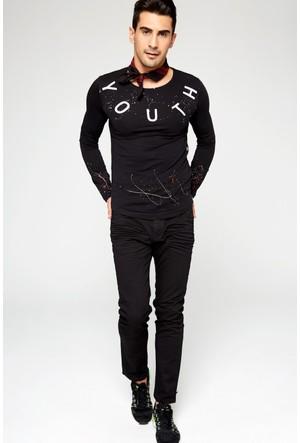 FullaModa 17MTENBLUE0015 Erkek Kot Pantolon Siyah