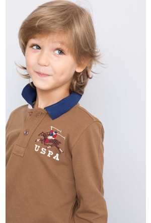 U.S. Polo Assn. Erkek Çocuk Sd01Sk7 Sweatshirt Kahverengi