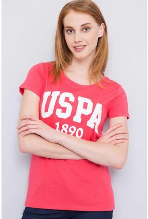 U.S. Polo Assn. Kadın Gean T-Shirt Pembe