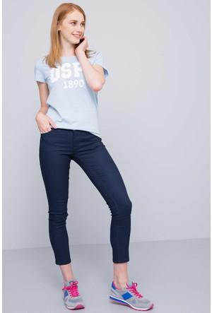 U.S. Polo Assn. Kadın Gean T-Shirt Açık Mavi