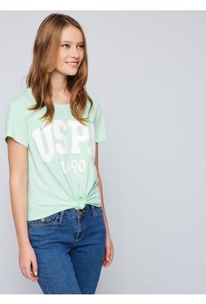 U.S. Polo Assn. Kadın Gean T-Shirt Yeşil