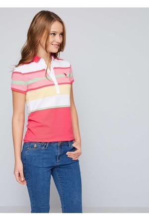 U.S. Polo Assn. Kadın Gavin T-Shirt Pembe