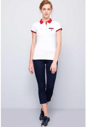 U.S. Polo Assn. Kadın Gloria-Iy07 T-Shirt Beyaz