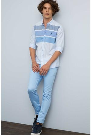 U.S. Polo Assn. Erkek Song Gömlek Mavi