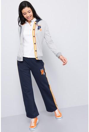 U.S. Polo Assn. Kadın Haga Sweatshirt Gri Melanj