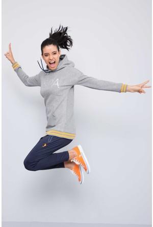 U.S. Polo Assn. Kadın Hetty Sweatshirt Gri Melanj