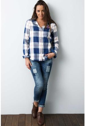 U.S. Polo Assn. Kadın Carrick Gömlek Bej