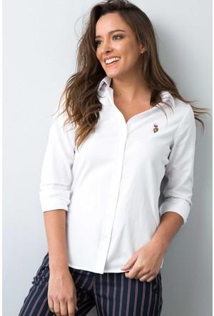 U.S. Polo Assn. Kadın Woxcolor17K Gömlek Beyaz