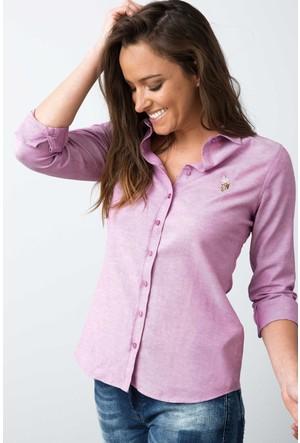 U.S. Polo Assn. Kadın Woxcolor17K Gömlek Pembe