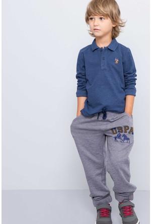U.S. Polo Assn. Erkek Çocuk Garlan Eşofman Altı Gri